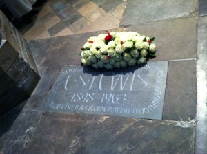Memorial of C S Lewis in Poet's Corner