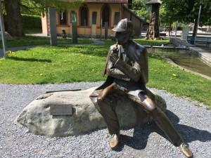 Statue of Sherlock Holmes in Meiringen
