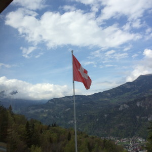 Swiss Flag at Reichenbach Falls
