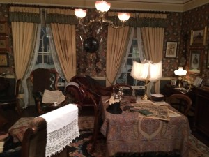 Reconstruction of the living room of Sherlock Holmes