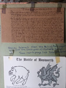 Facsimile document and pamphlet on the Battle of Bosworth