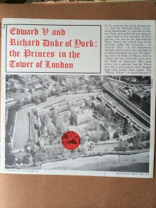 Leaflet on Princes in the Tower