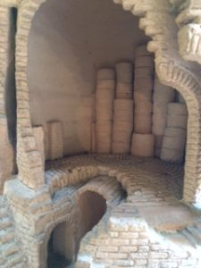 Inside model of bottle kiln