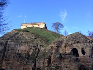Nottingham Castle on Castle Rock
