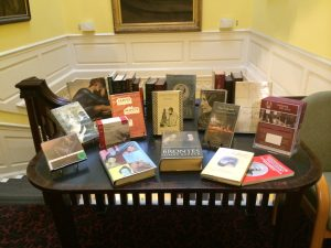 Display of Charlotte Bronte books