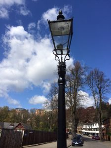 Gas lamp on Park estate
